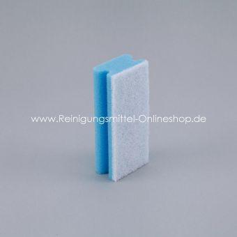 Padschwamm blau/weiß, 15,0 x 7,0 cm