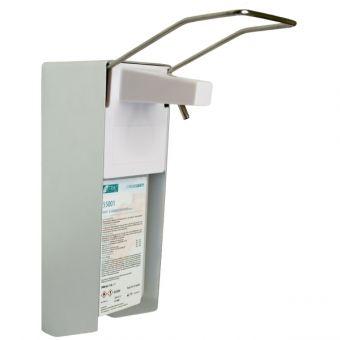 Aluminium Desinfektionsmittelspender mit Armhebel für 0,5 Liter Euroflaschen