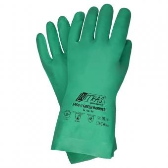Chemikalienschutzhandschuhe GREEN BARRIER von Nitras - 1 Paar