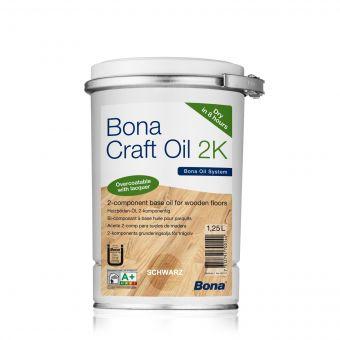 """BONA """"Craft Oil 2K"""", Farbton: Graphite / Schwarz, 1,25 Liter Dose"""