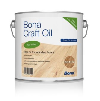 "BONA ""Craft Oil"", Farbton: Clay / Braun, 2,5 Liter Dose"